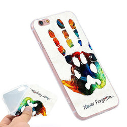 Never Forgotten Paw on Hand Phone Case for iPhone