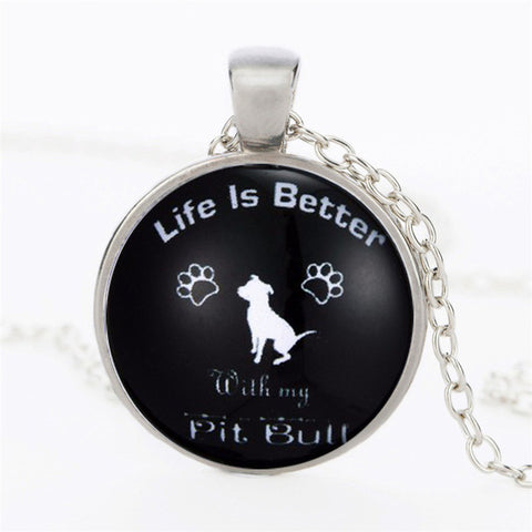 Life is Better With My Pit Bull Pendant Necklace