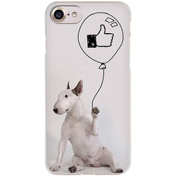 Bull Terrier Holding LIKE Balloon Phone Case for iPhone