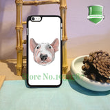 Bull Terrier Head Water Painting White Phone Case for iPhone