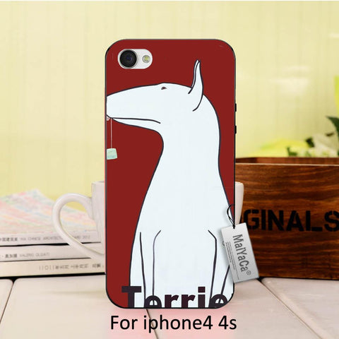 Simple Bull Terrier Standing Up Cartoon Phone for iPhone