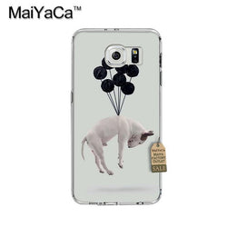 Floating Bull Terrier By Balloons Phone Case for Galaxy