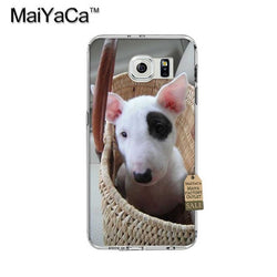 Bull Terrier Puppy Black Patch In Basket Phone Case for Galaxy