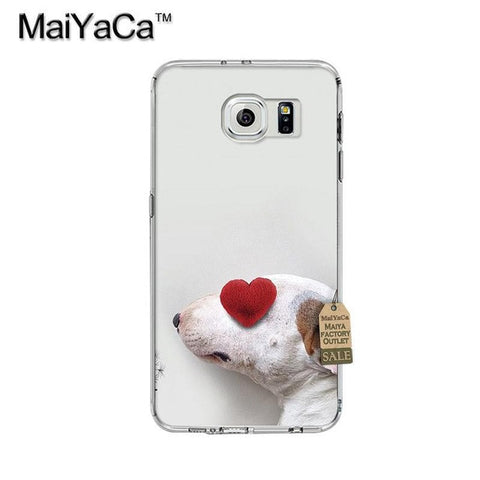 Heart Covered Eye Bull Terrier Phone Case for Galaxy