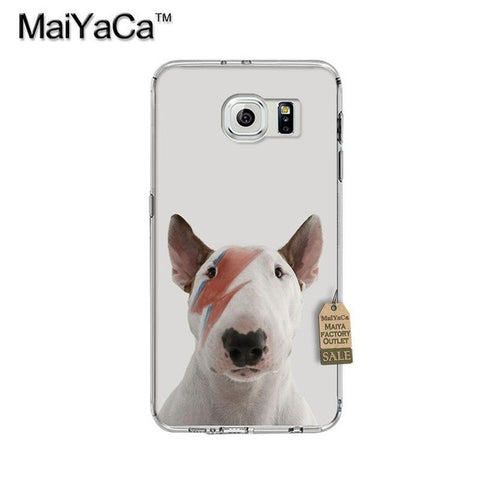 Lightning Eye Patch Bull Terrier Phone Case for Galaxy