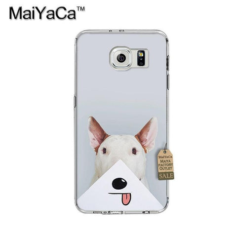 Bull Terrier Cartoon Mouth Tongue Out Phone Case for Galaxy