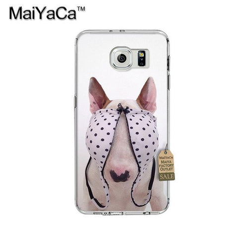 Bull Terrier Eyes Cover By Bra Phone Case for Galaxy