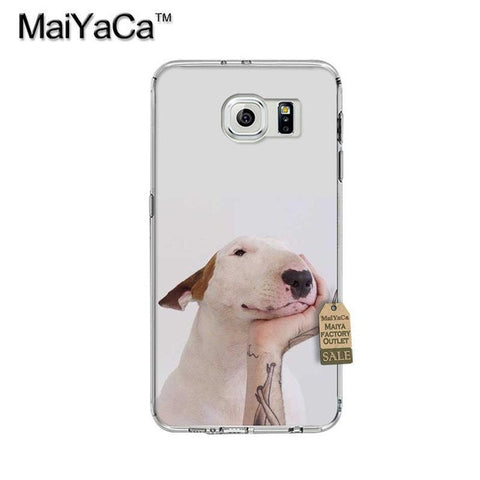 Bull Terrier Putting Head On Hand Phone Case for Galaxy