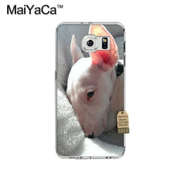 Tired Bull Terrier Laying Down Phone Case for Galaxy
