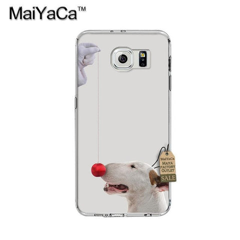 Bull Terrier Red Nose Phone Case for Galaxy