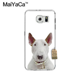 Bull Terrier Looking Straight White Background Phone Case for Galaxy