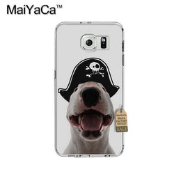 Happy Pirate Bull Terrier Phone Case for Galaxy