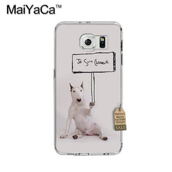 Bull Terrier Holding Je Suis Charlie Sign Phone Case for Galaxy