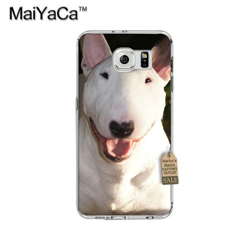 Happy Smiling Bull Terrier Head Phone Case for Galaxy