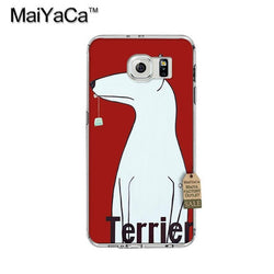 Simple Bull Terrier Standing Up Cartoon Phone for Galaxy