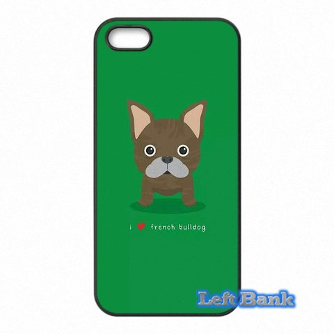 French Bulldog Circle Eyes Green Background Phone Case for Motorola Moto