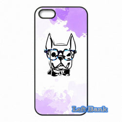 Smart French Bulldog Outline Glasses Phone Case for Motorola Moto