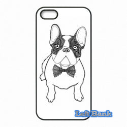 French Bulldog Outline Drawing Bow Tie Phone Case for Motorola Moto