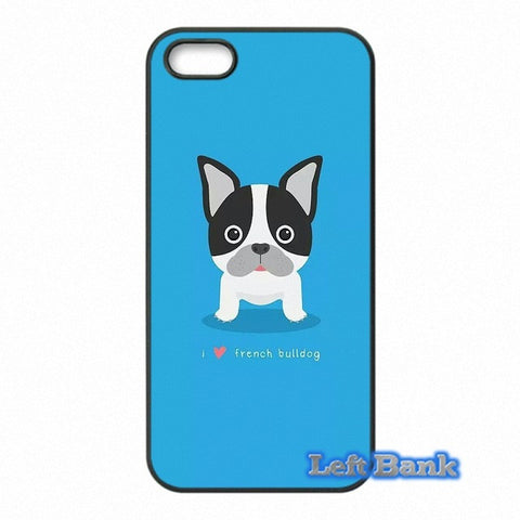 Boston Terrier Circle Eyes Blue Background Phone Case for Motorola Moto