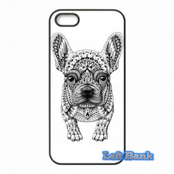 French Bulldog Tribal Pattern Black White Phone Case for Motorola Moto