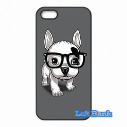 Cute French Bulldog Puppy With Big Glasses Phone Case for Motorola Moto