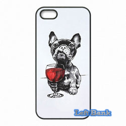 French Bulldog Glass of Red Wine Phone Case for Motorola Moto