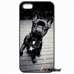 Black French Bulldog One Leg Up Wood Floor Phone Case for LG