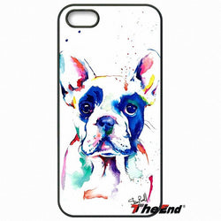 Colorful French Bulldog Painting White Phone Case for LG