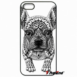 French Bulldog Tribal Pattern Black White Phone Case for LG