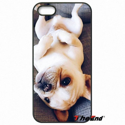 Cute Light Brown French Bulldog Baby Puppy Laying on Back Phone Case for LG