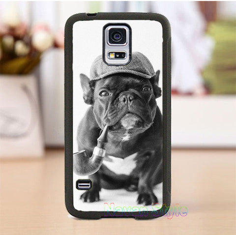 Sherlock Holmes Black French Bulldog Phone Case for Galaxy