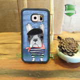 French Dog Dresses as Frenchmen Phone Case for Galaxy