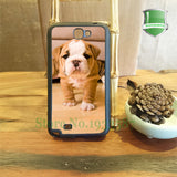 Wrinkly Tan White Baby English Bulldog Puppy Phone for Galaxy