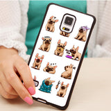 French Bulldogs Multiple Emojis Pattern Phone Case for Samsung Galaxy