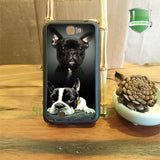Black Boston Terrier and White Black Laying Boston Terrier Phone Case for Galaxy