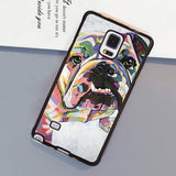 English Bulldog Multicolor Faded Pattern Phone Case for Galaxy