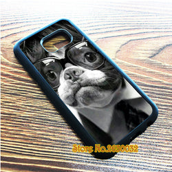 French Bulldog Nerd Glasses Phone Case for Galaxy