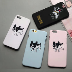Small Cartoon French Bulldog Multiple Colors Phone Case for iPhone
