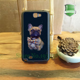 French Bulldog Poses Bow Tie Black Background Phone Case for Galaxy