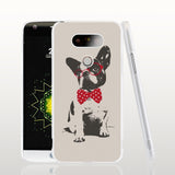 French Bulldog Red Glasses Bow Tie Phone Case for LG