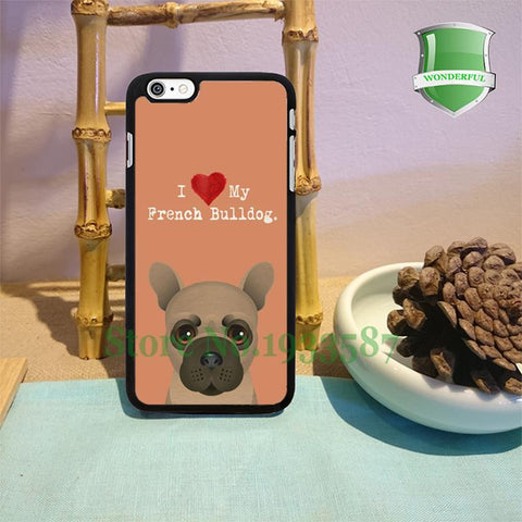 I Love My French Bulldog Tan Background Phone Case for iPhone