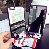 French Bulldog Peaking From Bottom Mirror Phone Case for Apple iPhone