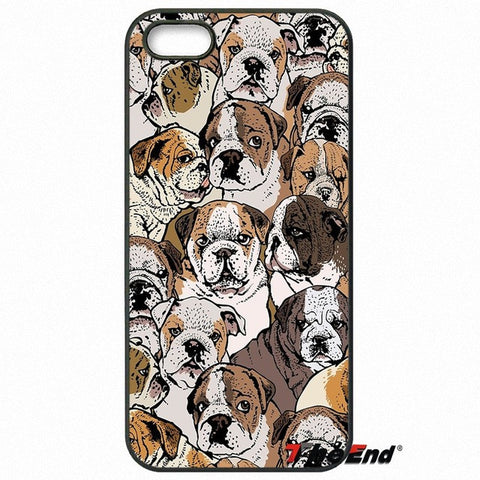 English Bulldog Different Emotions Pattern Phone Case for Motorola Moto, Blackberry