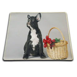 French Bulldog Picnic Basket Portrait Mouse Pad