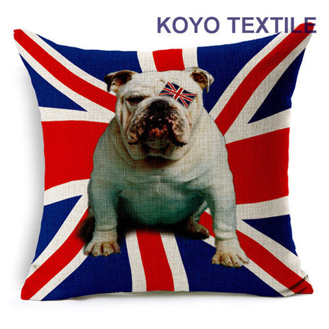 English Bulldog British Flag Eye Patch Pillowcase