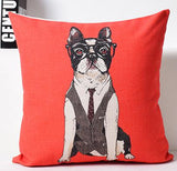 Professional French Bulldog Glasses Tie Vest Pillowcase