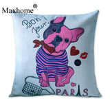 Pink French Bulldog Bon Jour Paris Pillowcase
