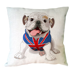 Cartoon English Bulldog British Shirt Pillowcase