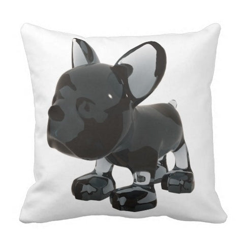 French Bulldog Figurine Shape Image Two Side Pillowcase