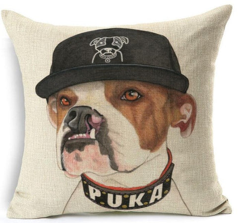 American Bulldog Puka Collar Baseball Cap Pillowcase
